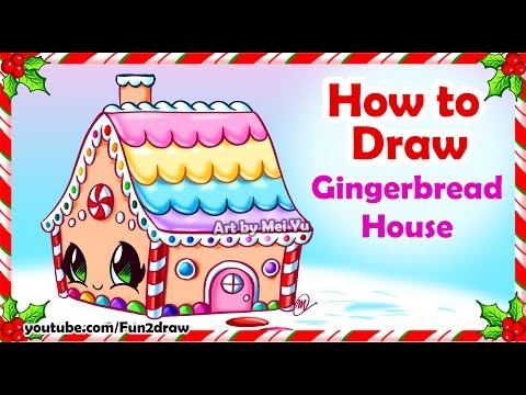 How to Draw a Pretty Gingerbread House