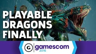 Playable Dragons In Scalebound - Gamescom 2016