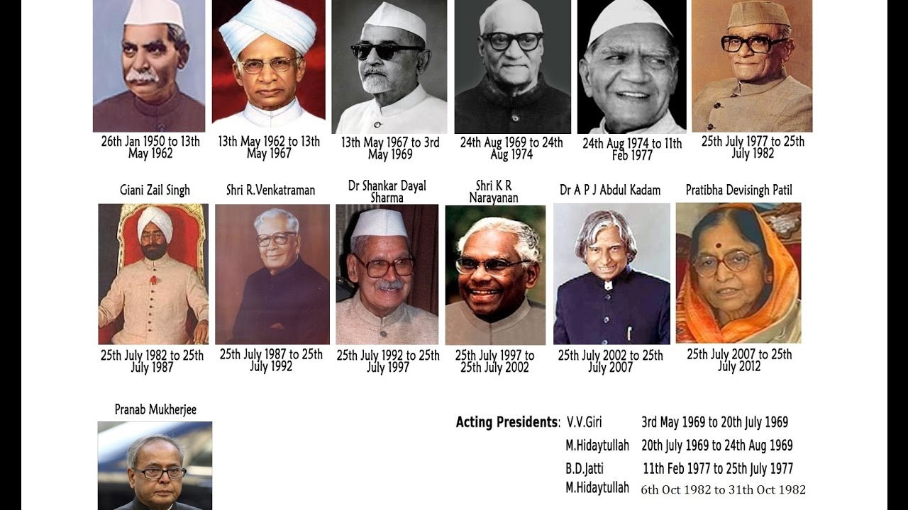 Photos of presidents of india till now