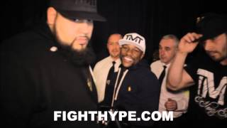 FLOYD MAYWEATHER TAKES OVER AMIR KHAN'S HOMETOWN OF BOLTON; GIVES FANS A NIGHT TO REMEMBER