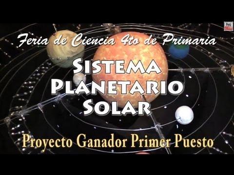 Sistema Planetario Solar -- Proyecto para feria de ciencias ganador