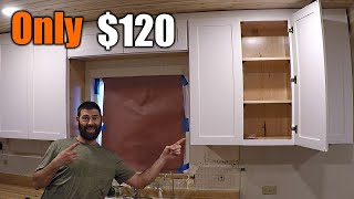 Upgrade Your Kitchen Cabinets For Only $120 | THE HANDYMAN |