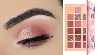 Huda Beauty New Nude Eyeshadow Palette | Soft Eye Makeup Tutorial