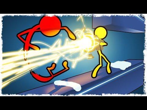 ЛАЗЕР VS ЧЕЛОВЕЧЕК В STICK FIGHT THE GAME!!!
