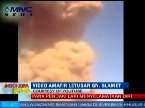 Rekaman Detik-detik Meletusnya Gunung Slamet