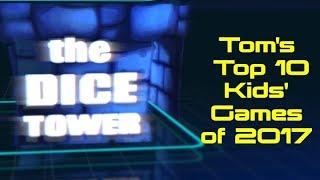 Top 10 Kids' Games of 2017 - with Tom Vasel