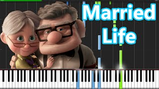 Married Life Up Piano Tutorial Synthesia Pianomavs