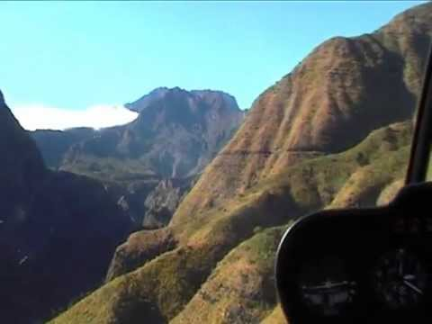 Helicopter Flight Over Reunion Island  YouTube