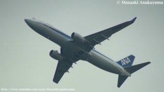 ANA - Air Nippon (EL/ANK) Boeing 737-800 JA58AN takeoff @ Haneda RWY34R [20120322_1339]