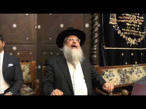 רבי חננינה החזן הרב משה בצרי בבהכנ''ס עדס מוצש''ק אמור ביאת תשע''ט