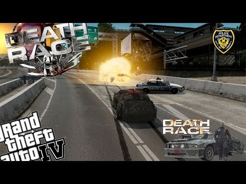 GTA 4 + WebcamLCPDFR Death Race Mod - Day 2 - Should Have Been Wearing a Helmet!