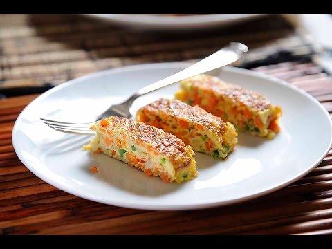 Rollitos de huevo con verduras - Desayuno fácil de preparar