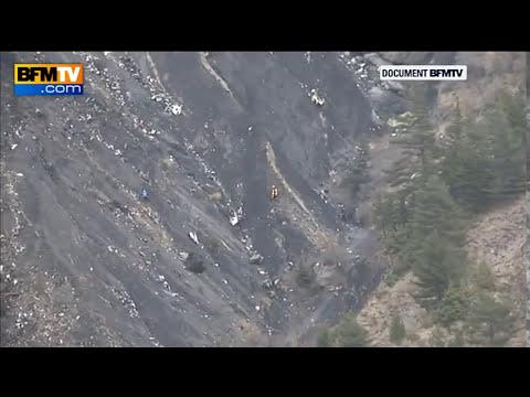 Crash de l'A320: les images aériennes du lieu du drame