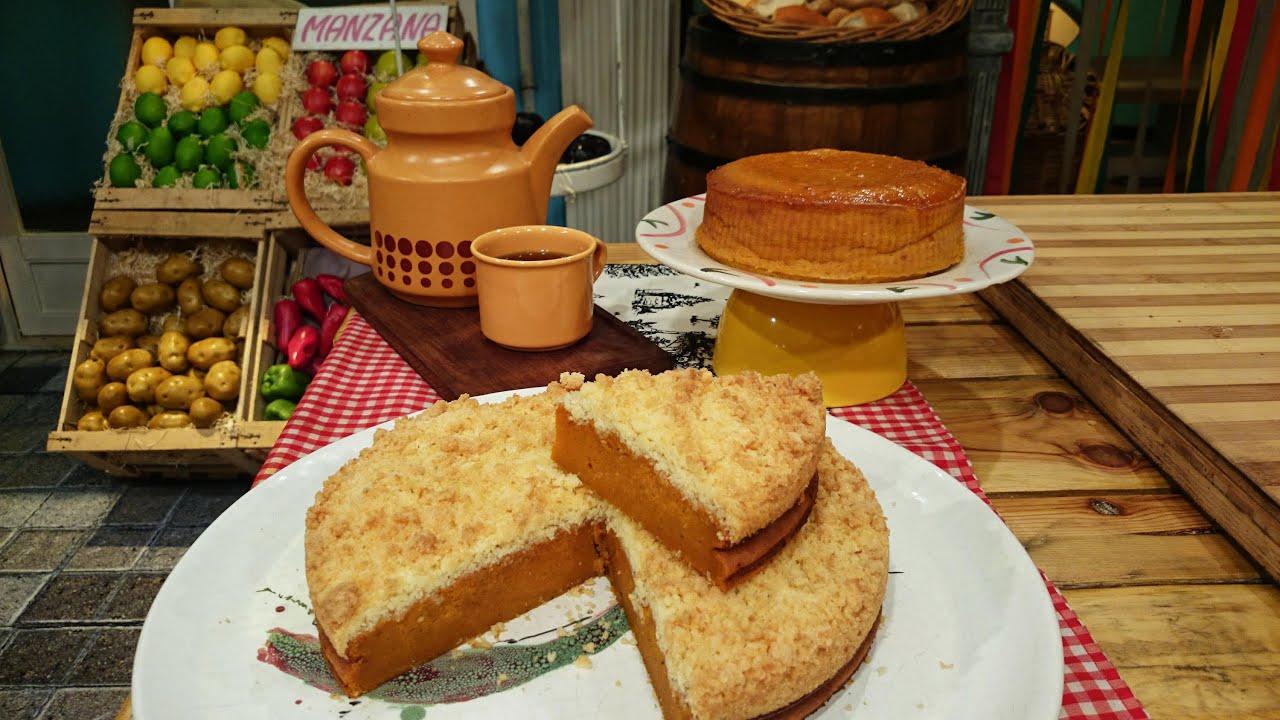 Torta dulce de calabaza con crumble