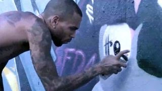 Chris Brown GOES WILD And SPRAY PAINTS The Town