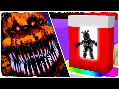 HOW TO MAKE A PORTAL TO THE DIMENSION OF FIVE NIGHTS AT FREDDY'S (SPECIAL HALLOWEEN) - MINECRAFT