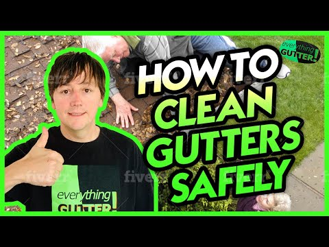 How to clean rain gutters and downspouts safely