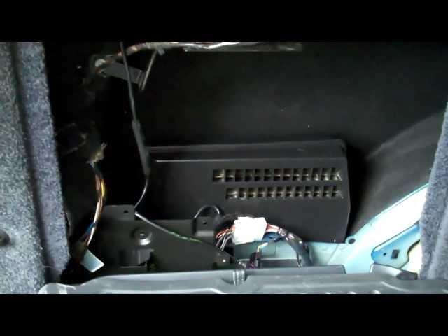 Range Rover L322 Audio Amp Location - YouTube