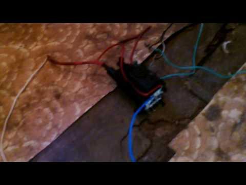 Свечение люминисцентной лампы от ТДКС