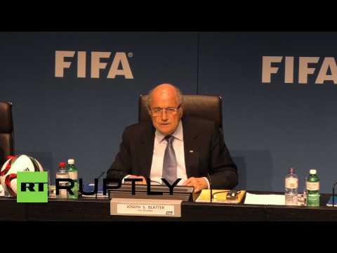Switzerland:  'No boycott of 2018 World Cup in Russia' - Sepp Blatter