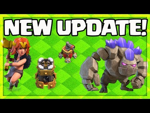 UPDATE! Clash of Clans HOME Village - NEW Valkyrie, Golem, Bomb Tower, Air Sweeper Levels!