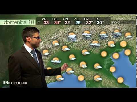 Previsioni meteo Video per domenica, 18 agosto