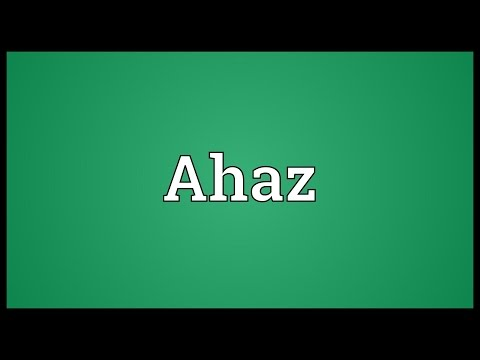 Header of Ahaz