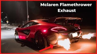 Armytrix Mclaren 570s Exhaust Sound (FLAMING CRACKLES)