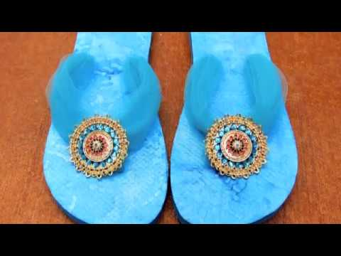 Flip flop Refashion with Mod Podge and Styled by Tori Spelling