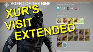 Destiny! Xur Is Hanging Around Until The Weekly Reset!