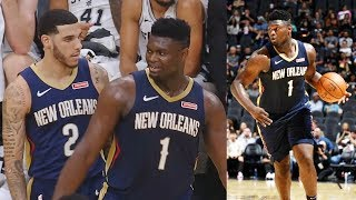 Zion Williamson Shocking Half Court Alley-Oop From Lonzo Ball! Pelicans vs Spurs 2019 NBA Preseason