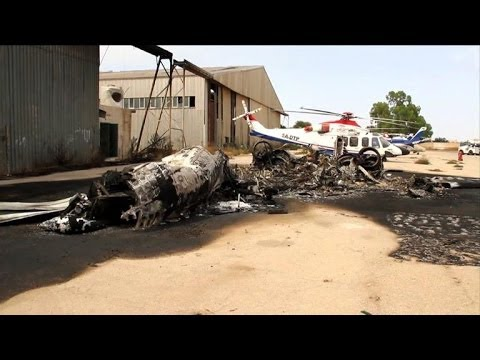 Libya's main airport closed as rival militias clash