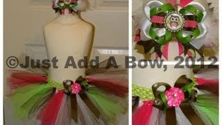 HOW TO: Tie or Attach a Bow or Flower onto a Tutu by Just Add A Bow