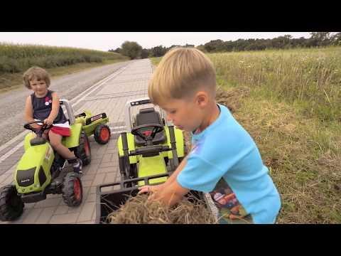 Traktory Ciągniki Na Pedały Claas Arion 430 Zabawy Z Sianem I Kukurydzą