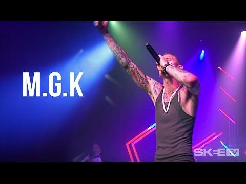Machine Gun Kelly performs