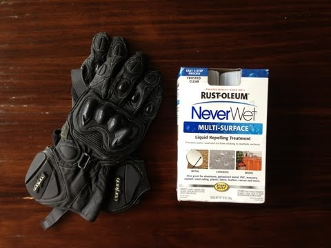 Rust-Oleum Neverwet vs. Motorcycle Gloves. Sink Test Review