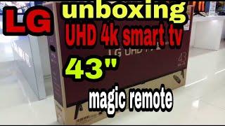 43um7300 UHD 4k LG unboxing 2019
