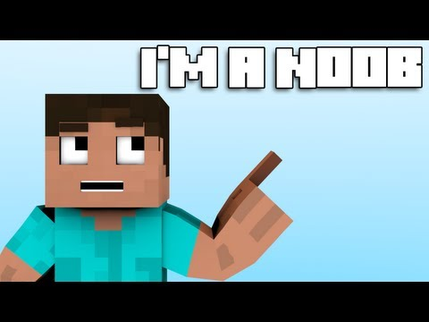 i'm A Noob - Minecraft Parody Of Fun's Some Nights (music Video) video
