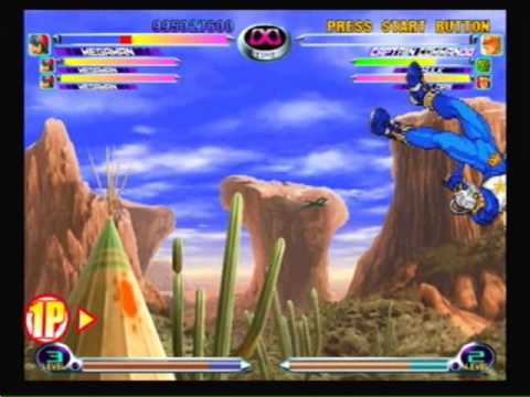 Marvel VS Capcom 2 Megaman Arcade Playthrough