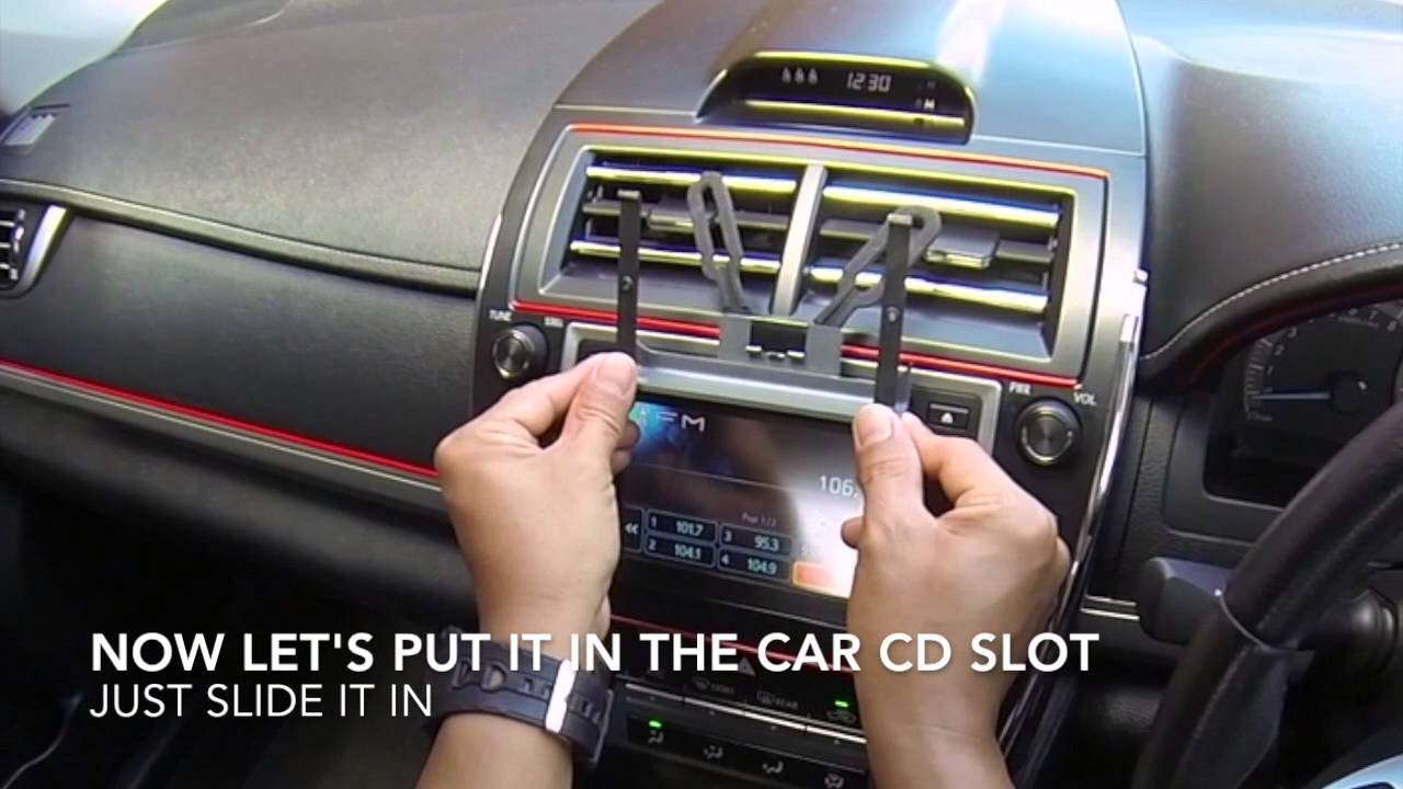 D i y cd slot car mount for iphone and smartphone holder youtube