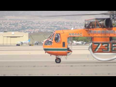 S-64E Skycrane departure at the North Las Vegas Airport.