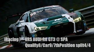 iRacing ( ͡° ͜ʖ ͡°)🍷🏁 VRS AUDI R8 GT3 @ SPA QUALIFY8/CAR9/7thPosition split4/4