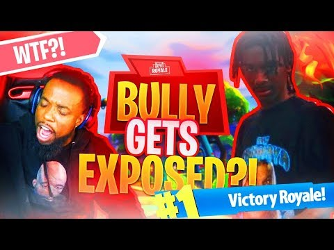 FORTNITE ONLINE BULLY GETS EXPOSED LIVE! Fortnite Battle Royale Funny Moments thumbnail