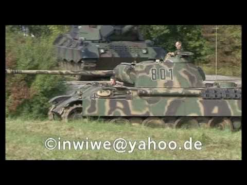 Panzer Panther im Gelände an der WTD 41 in Trier German Panther Tank in Action