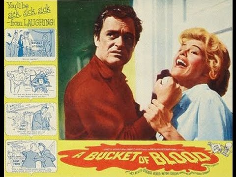 A Bucket of Blood 1959) Full Movie - Classic Retro Horror