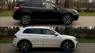 Part 2: Volkswagen Tiguan 4MOTION vs Subaru Forester XT S-AWD - 4x4 test on rollers