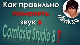 Как правильно поменять звук в видеоролике в Camtasia Studio 8? Platincoin