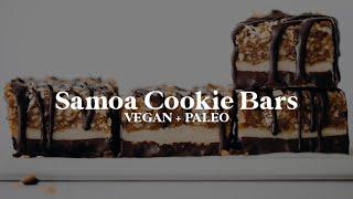 Vegan Paleo Samoa Cookie Bars  // vegan + paleo