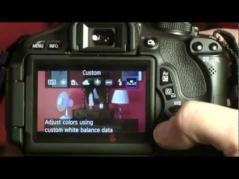 Canon 600d как настроить для
