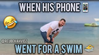 When his phone went for a swim (Phone Prank)